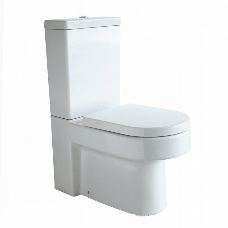 PORTO Toilet & Cistern, Close Coupled & Soft Close Seat £199.99 - Bathroom Suites - Close Coupled Toilets ThinkTaps