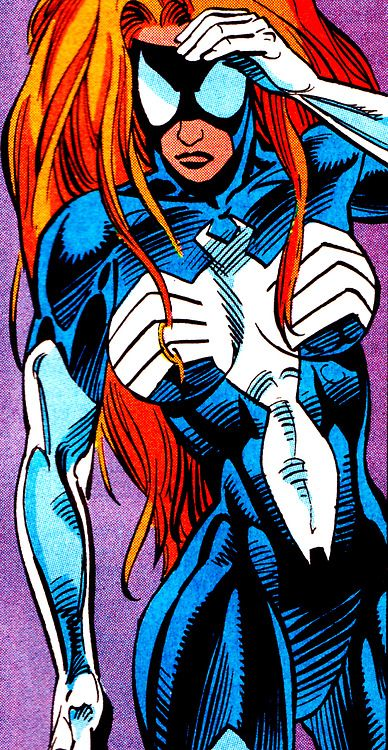 Spider-Woman // Julia Carpenter by Andrew Currie & Don Hudson  West Coast Avengers Vol. 2 #96 (July 1993)