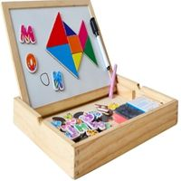 Writing board magnetic jigsaw puzzle double easel for kids,Christmas presents