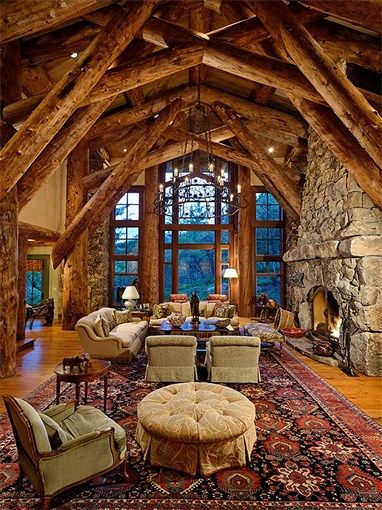 213 Best Images About Log Cabins On Pinterest Mansions