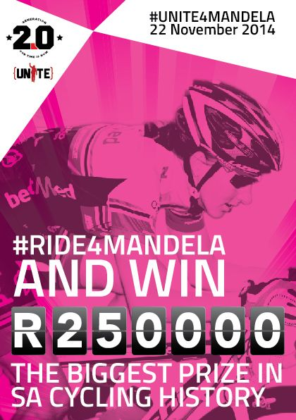 Boasting the biggest cycling prize in SA history, #RIDE4MANDELA.