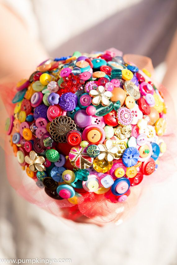 Button bouquet Indian Summer by PumpkinandPye on Etsy, £130.00