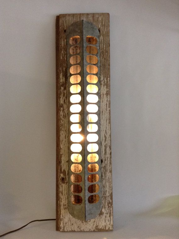 Farmhouse Fresh Rustic Chicken Feeder Wall Light Lighting Sconce Primitive Minimalist Lamp Country Cottage Shabby Chic on Etsy, $110.00