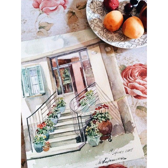 88 отметок «Нравится», 22 комментариев — Марина (@malinaklubnikina) в Instagram: «Маленькая живописная Флорина навсегда останется в моей памяти  #Греция #Флорина #акварель #art…»