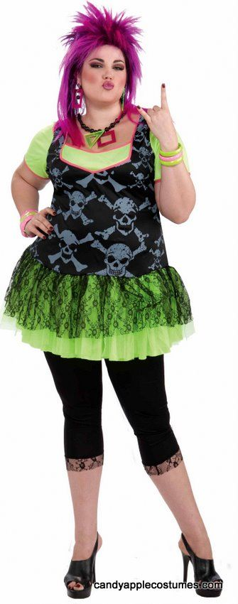Plus Size Adult 80's Punk Lady Costume - Candy Apple Costumes - 80's Costumes