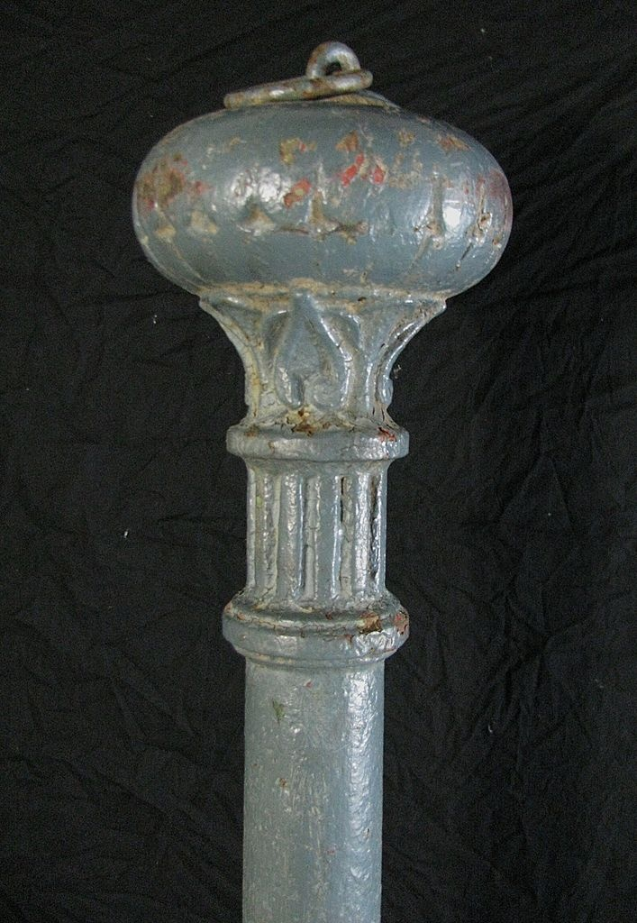 Antique Cast Iron Victorian Style Hitching Post Vintage