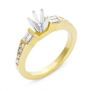 14K Yellow Gold 0.44cttw Baguette Diamond Semi Mount Engagement Ring Jewelry Pot. $1417.99. Your item will be shipped the same or next weekday!. 30 Day Money Back Guarantee. 100% Satisfaction Guarantee. Questions? Call 866-923-4446. Fabulous Promotions and Discounts!. All Genuine Diamonds, Gemstones, Materials, and Precious Metals