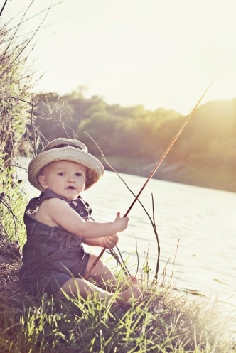 60 best photography lake family photos images on pinterest for Baby fishing pole