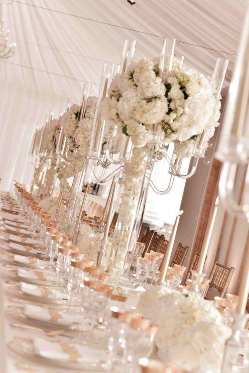 Whites En Regalia | All white, gold, rose gold elements. | Draped ceiling installation. | White Lilac Inc. | Event Design for Weddings, Fashion, Social, Corporate. | www.whitelilacinc.com