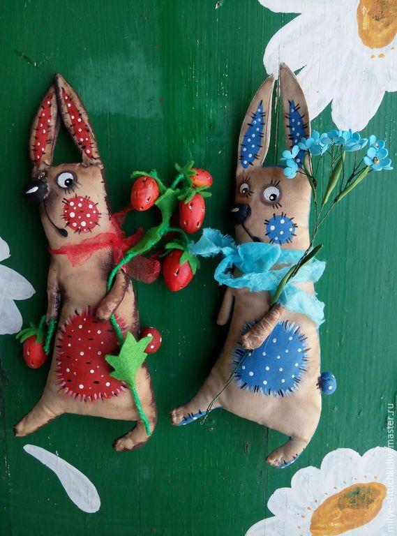 Купить Зайцы-побегайцы(Зайчишки) - разноцветный, заяц, ромашка, земляника, мак, шоколадка, кофе, ванилин