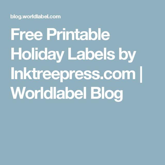 Free Printable Holiday Labels by Inktreepress.com   Worldlabel Blog