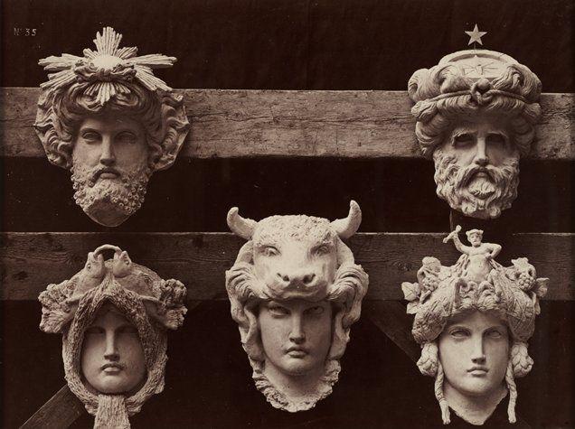 Masques du vestibule circulaire, from Le Nouvel Opéra de Paris by Delmaet & Durandelle (Hyacinthe César Delmaet and Louis-Emile Durandelle), 1865-1872