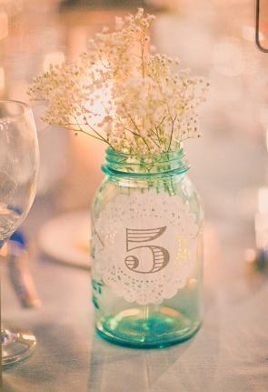 Table number/mason jar.