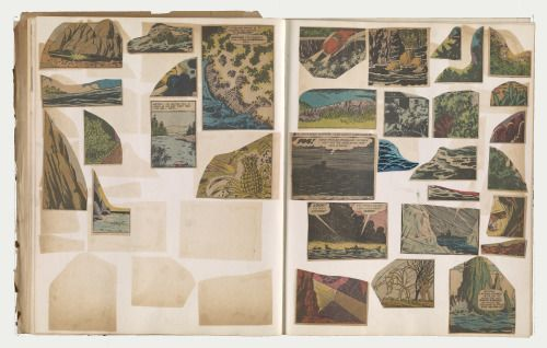 Collage by Ray Yoshida a member of the Chicago Imagists movement, via Commune   Daily