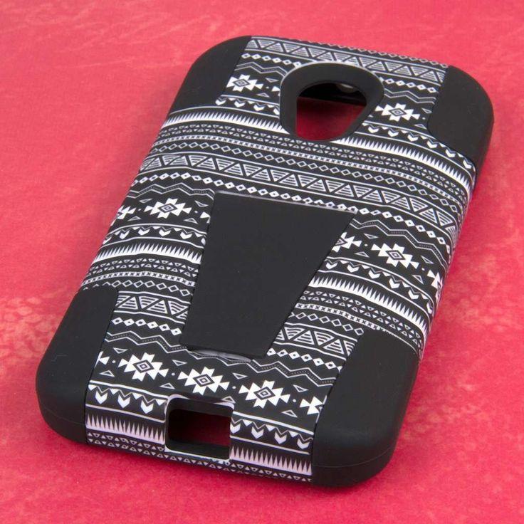 Amazon.com: MPERO IMPACT X Series Kickstand Case for Motorola Moto G (2nd Gen 2014) - Black Aztec: Cell Phones & Accessories