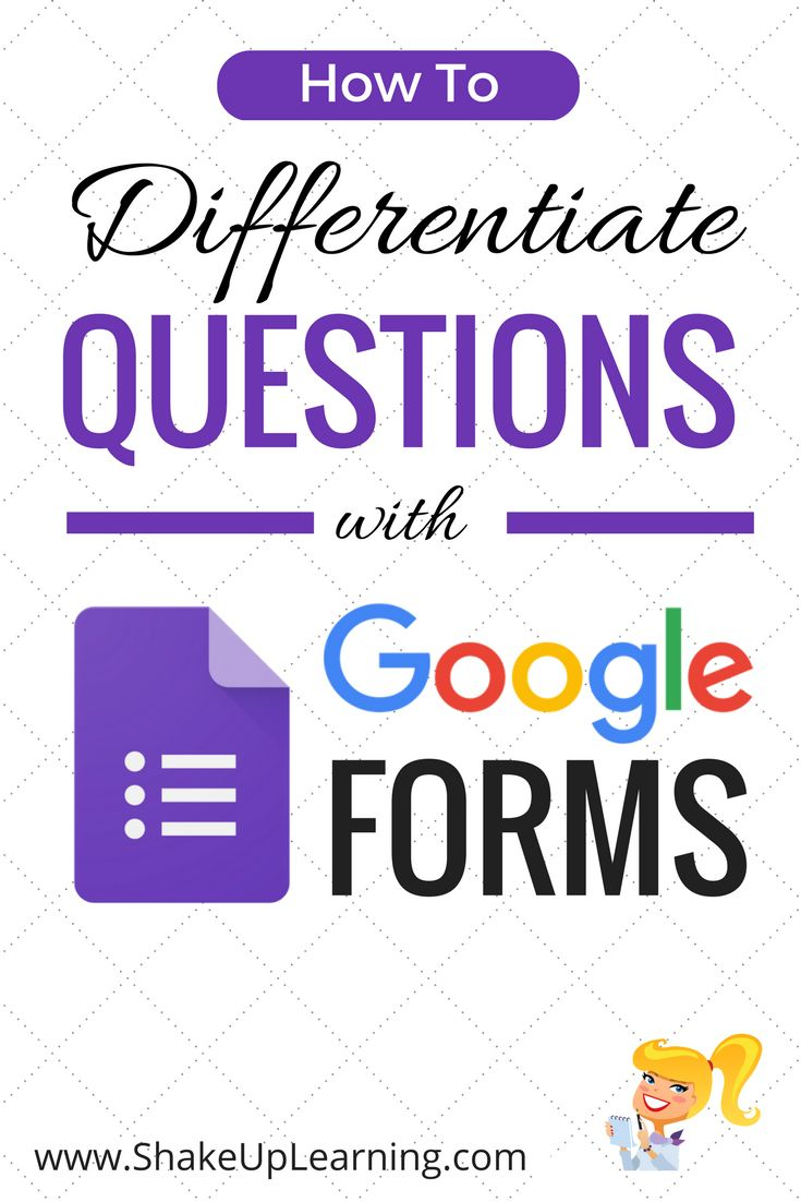 The post How to Differentiate Questions with Google Forms appeared first on Shake Up Learning.  Shut the Front Door (Again)! Updated Differentiation with Google Forms! UPDATED March 2017! There are so