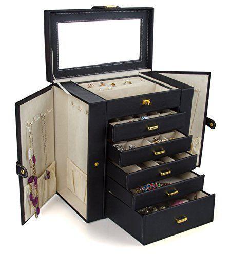 Kendal Huge Leather Jewelry Box / Case / Storage LJC-SHD5BK (black) Kendal http://www.amazon.com/dp/B011DAS476/ref=cm_sw_r_pi_dp_ji.Wwb0AEZ72F