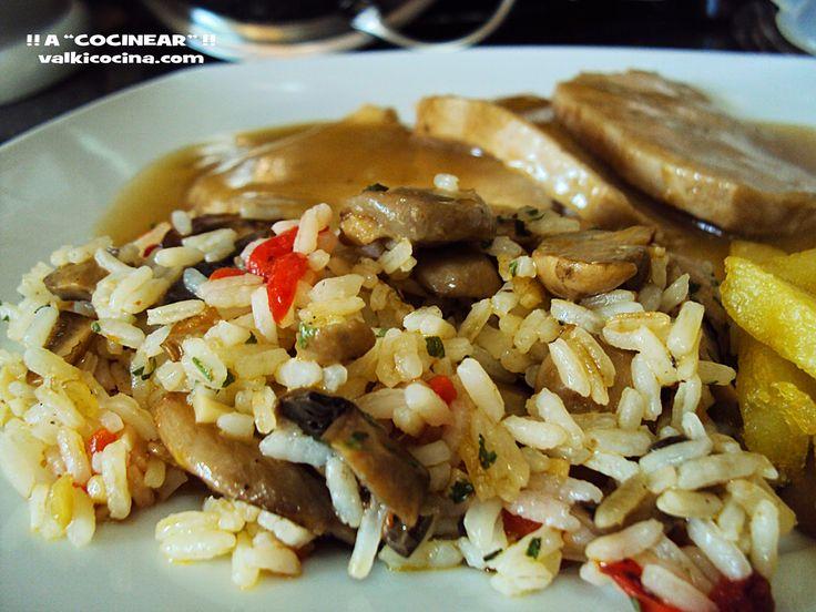 Guarnición de arroz exprés