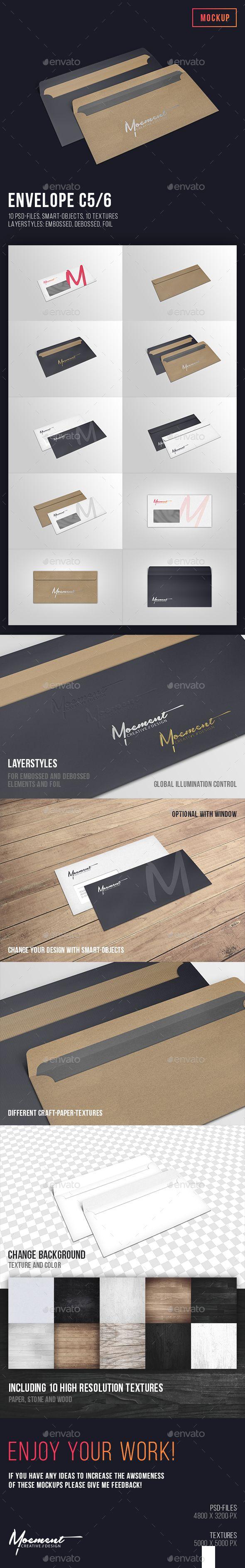 Envelope C5/6 Mockup