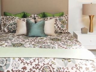 Suzani Forest Duvet Cover Available in 4 Sizes