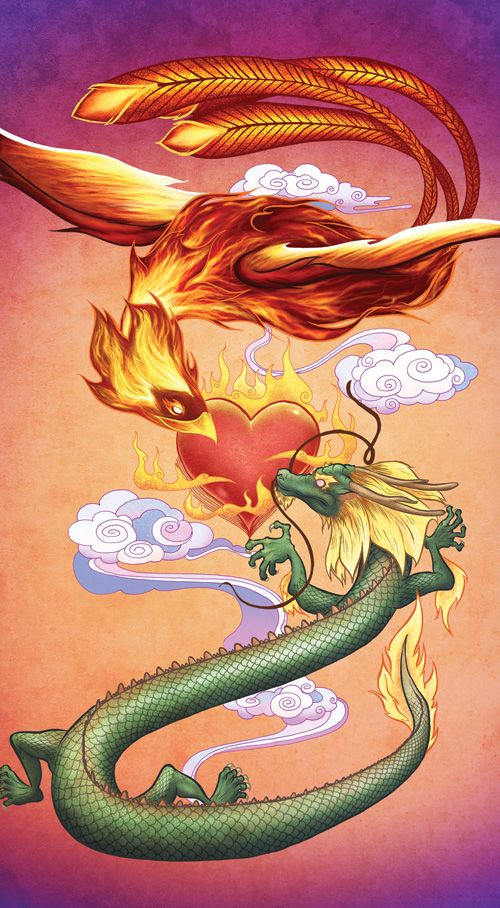 Dragon/Phoenix Love