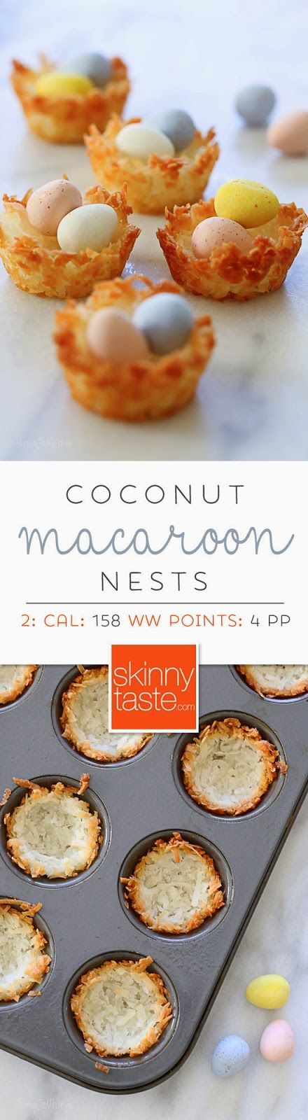 Coconut Macaroon Nests - perfect for Easter! | Skinnytaste