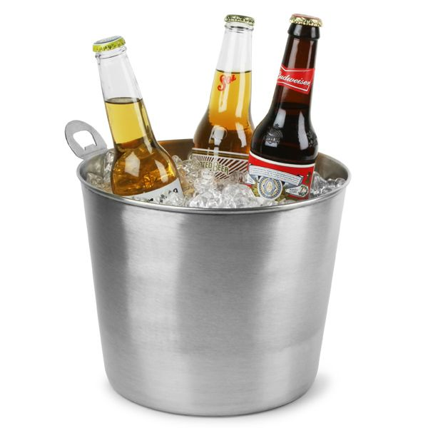 Stainless Steel Beer Bucket With Integral Opener Beer Cooler
