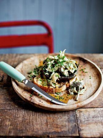 Mushroom sourdough bruschettas