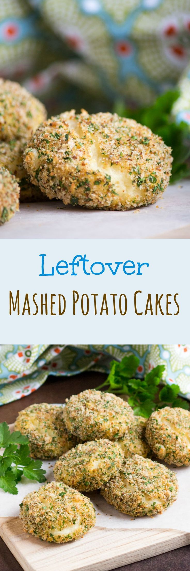 Leftover Mashed Potato Cakes.  A great use for excess mashed potato, but so good you might mash potatoes just to make them.