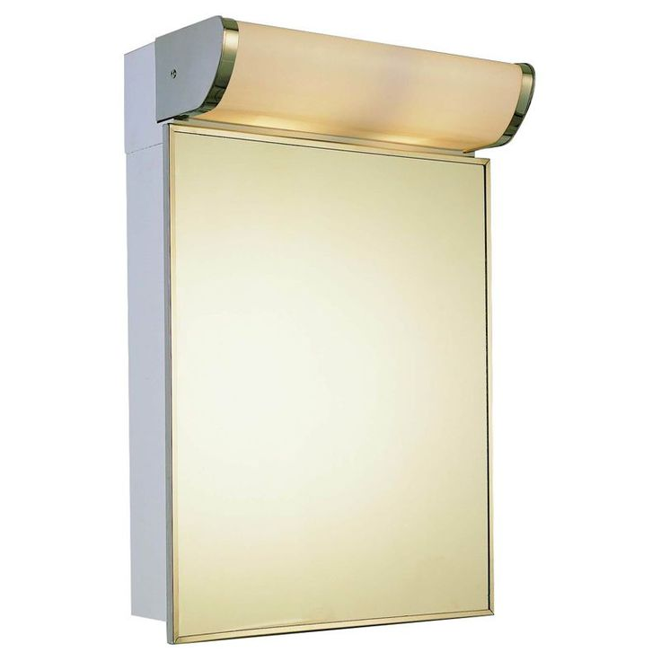 Ketcham 16W x 23.25H-in. Deluxe Surface Mount Medicine Cabinet With Light - 171-TL