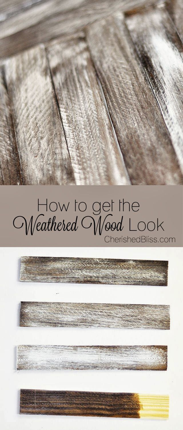 Make new wood look OLD with this tutorial on how to Weather Wood. Click through for instructions DIY