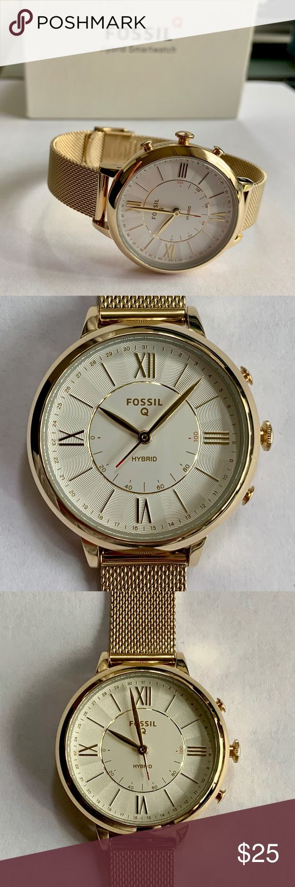 Fossil Q Smartwatch Fossil, Fossil accessories, Rose