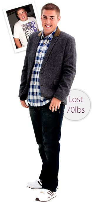 Simon lost over 70 lbs with Diet Chef - inspirational weight loss before and after photos