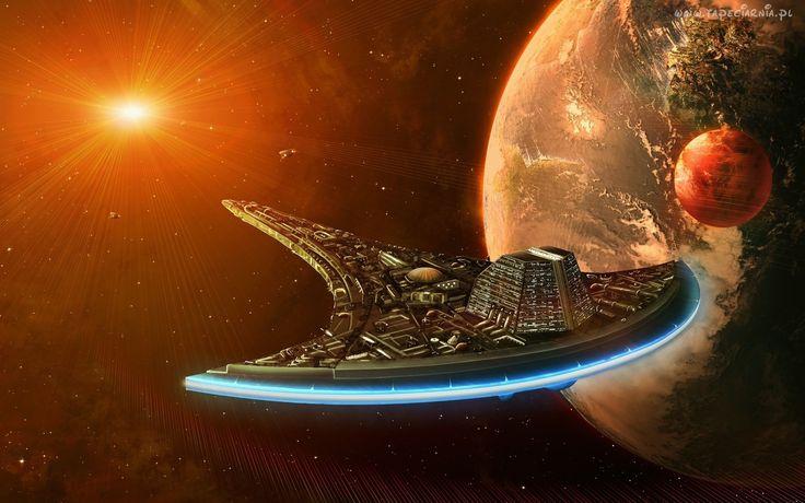 Kosmos, Planety, Statek, Kosmiczny