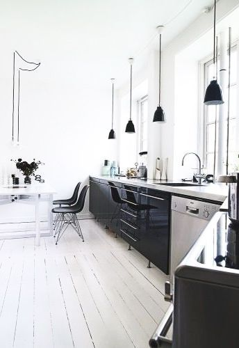Die besten 25+ Küche schwarz weiß Ideen auf Pinterest weiße - küche schwarz weiß