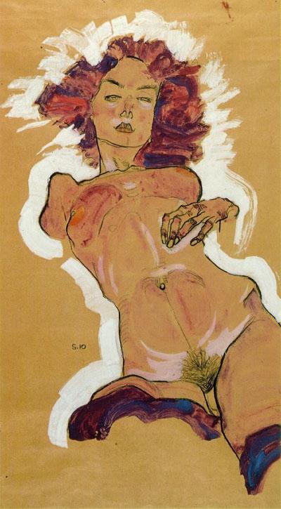 Egon Shiele. Female act