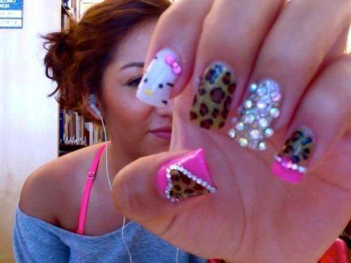 .: Cheetahs Nails, Nails Art, Cheetah Nails, Beautiful, Nails Ideas, Hello Kitty Nails, Nails 3, Nails Designs, Leopards Prints Nails