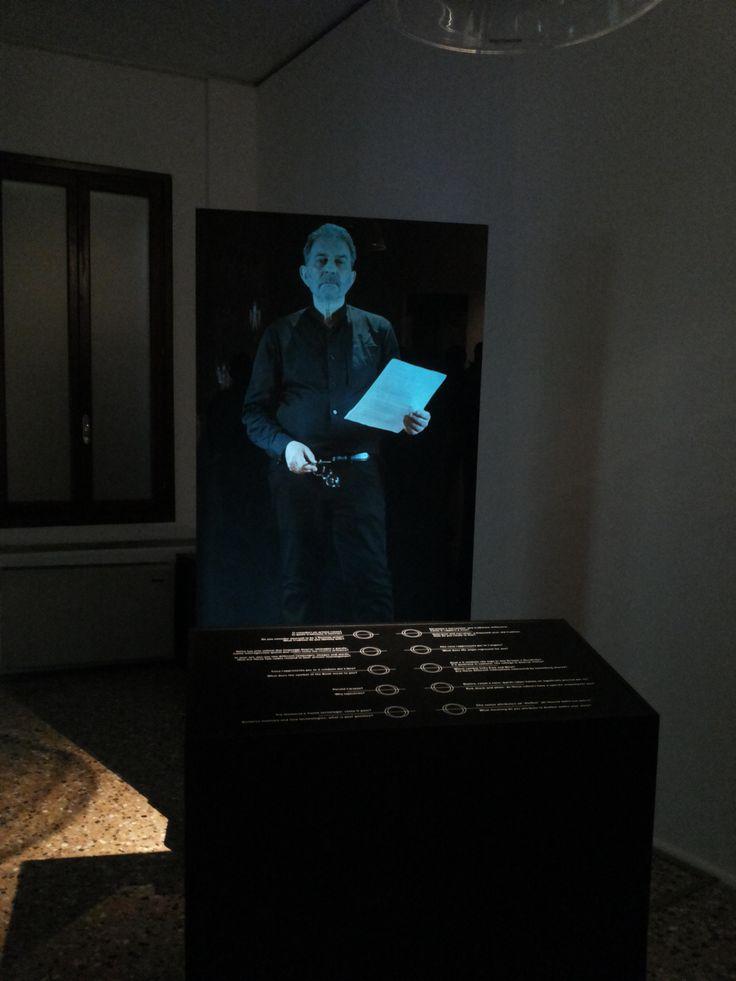 "Ologramma Bruskin. Allestimento mostra ""Grisha Bruskin. Alefbet: alfabeto della memoria"". #grishabruskin #querinistampalia #exhibition #russianart #contemporaryart"