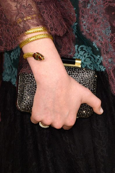 Actress Mamie Gummer bracelet detail at the 2014 Vanity Fair Oscar Party.