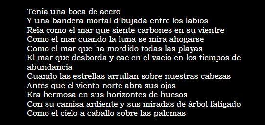 """Fragmento del poema """"Ella"""", Vicente Huidobro"""