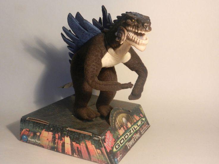 GODZILLA Equity Toys 1998 Plush Vinyl Dinosaur Poseable Action Figure orig pkg #EquityToys