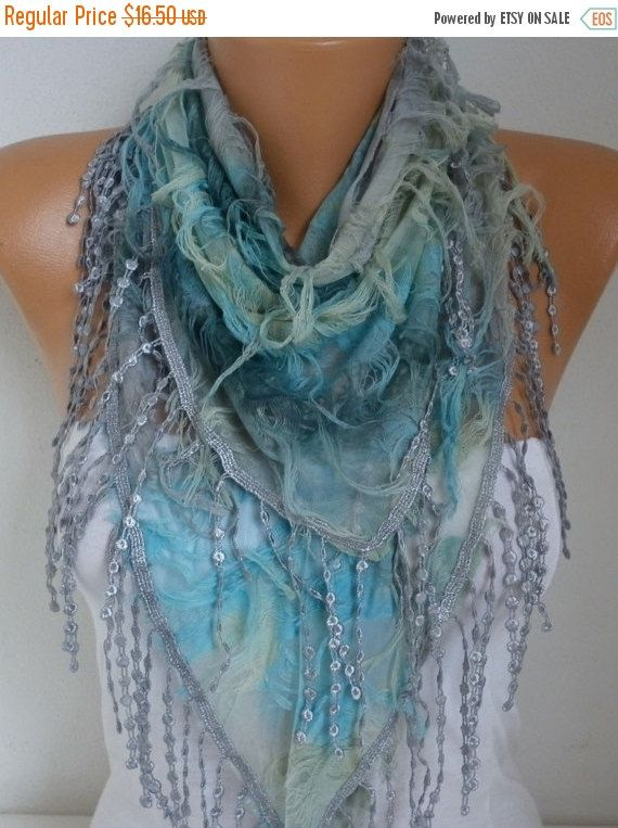 Ombre Butterfly Scarf Spring Summer Scarf Mother's Day by fatwoman