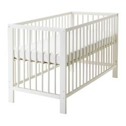 GULLIVER Crib - IKEA great for master bedroom instead of a bassinet, they wont grow out of it in 3 months and it can be converted into a toddler bed.. only $100!