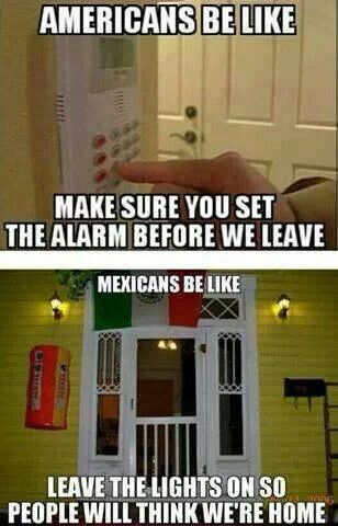 Mexican humor. My mom used to always tell us to do this! Lol