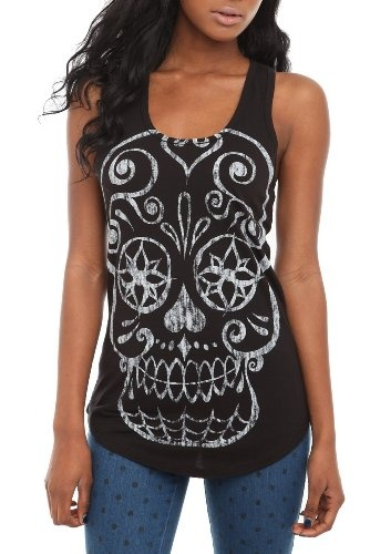 Amazon.com: Sugar Skull Tank Top: Clothing