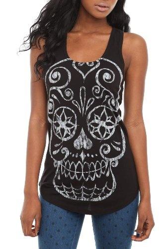 Amazon.com: Sugar Skull Tank Top: Clothing