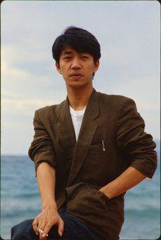 Ryuchi Sakamoto smoking on the beach...