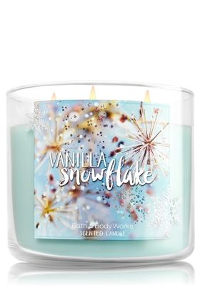 Vanilla Snowflake - Bath & Body Works ... A delectable blend of creamy vanilla, wintry mint & a dash of coconut