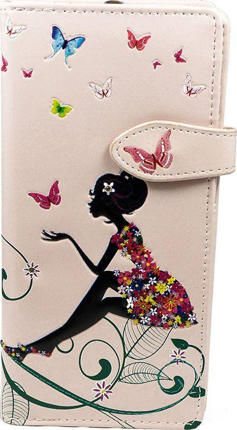 SHAGWEAR portemonnee Butterfly oasis roze - 0380Z