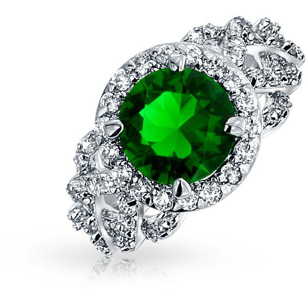 Bling Jewelry Say I Do Ring ($37) ❤ liked on Polyvore featuring jewelry, rings, engagement-rings, green, pave jewelry, imitation jewellery, artificial jewellery, green engagement rings and christmas ring